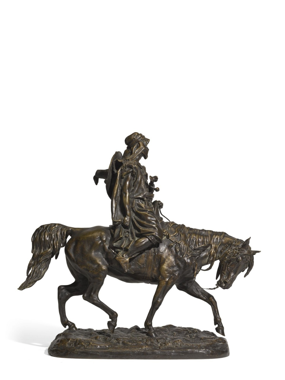 Arabian Horse Sculpture Arab Man On A Horse A Bronze Figural Group After The Model By Lorenzo Sculptures Arabian Horse Sculpture