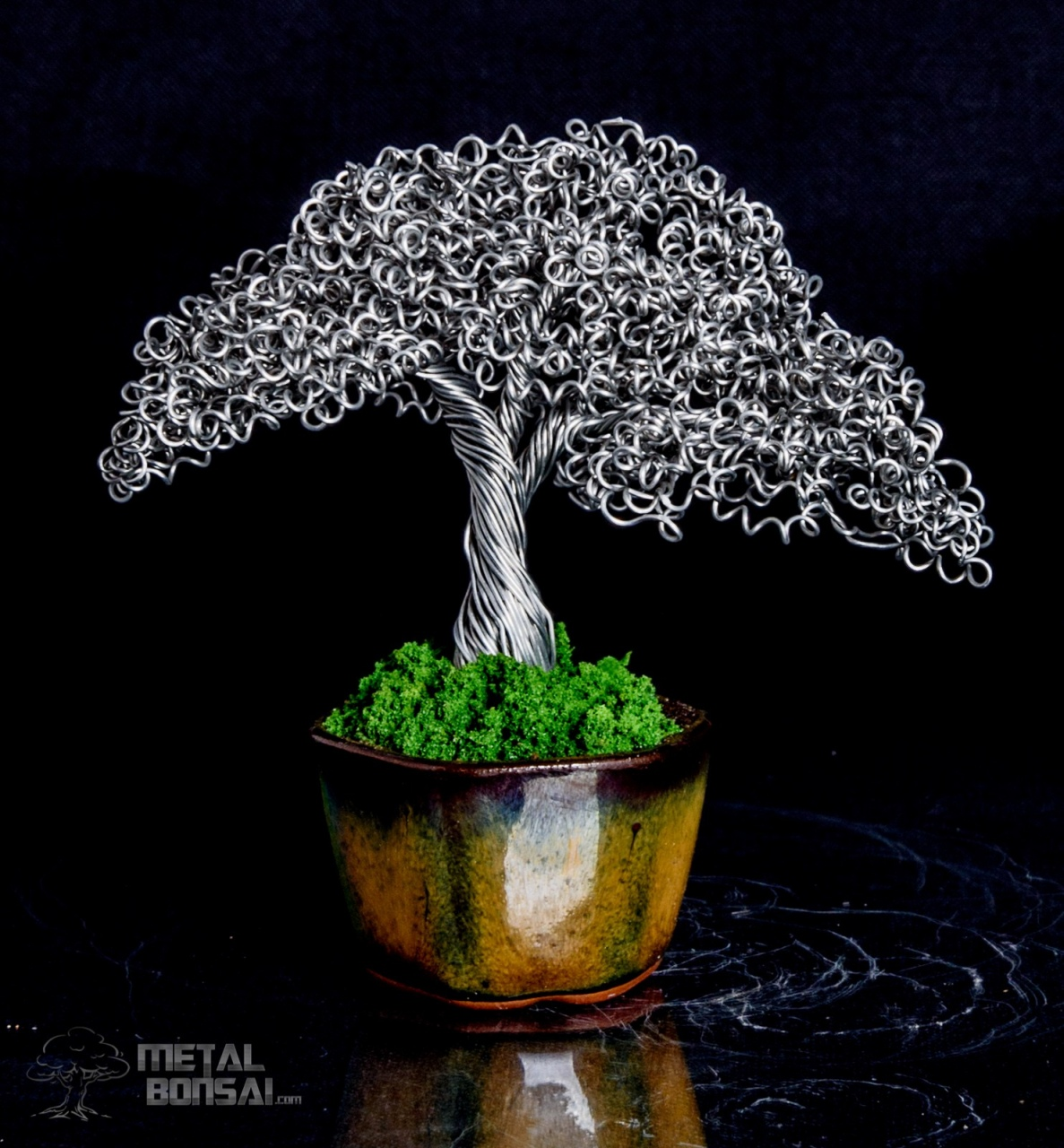 How To Make Wire Bonsai Tree Sculpture Natural Bonsai Wire Tree Sculpture In A Brown Glazed Hexagonal Pot Lorenzo Sculptures How To Make Wire Bonsai Tree Sculpture