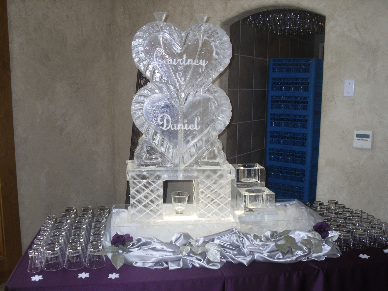 Ice Sculpture Drink Luge — Lorenzo Sculptures