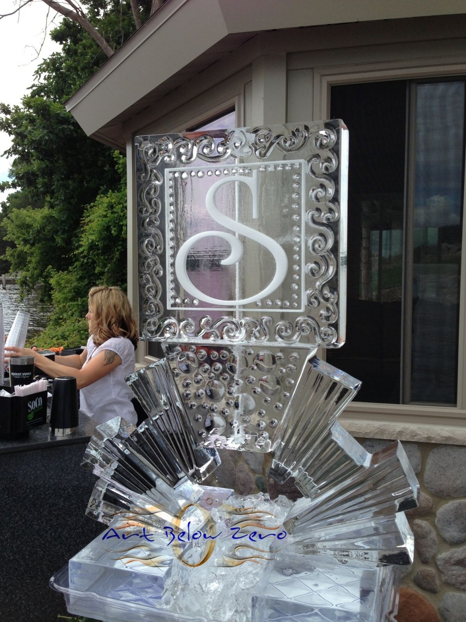 Ice Sculpture Luge for Wedding