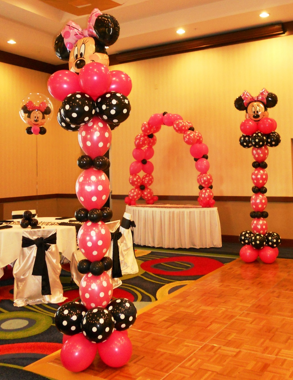 Mickey Mouse Balloon Sculpture Minnie Mouse Party Balloon Decor 3