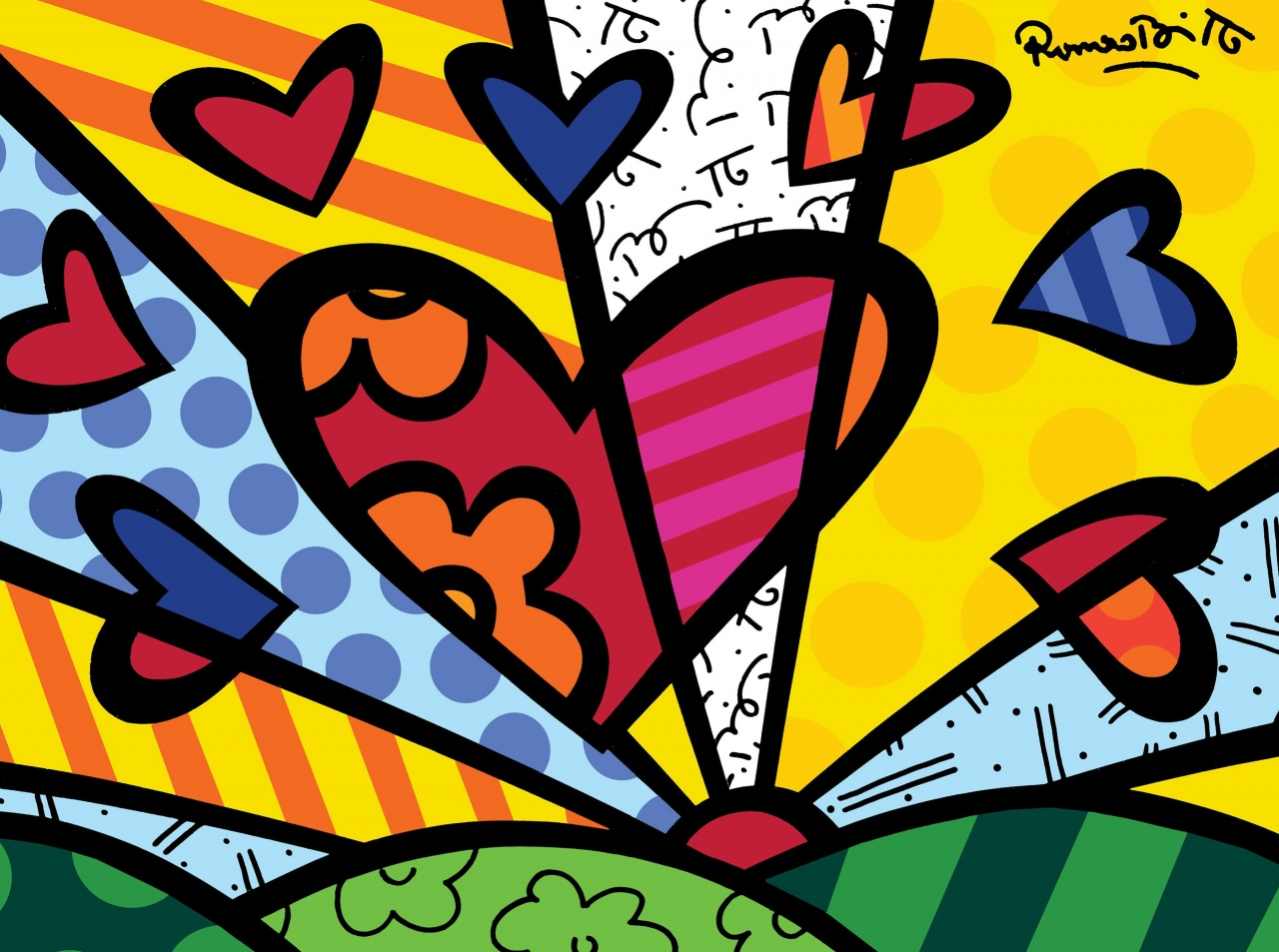 Romero Britto Fish Sculpture Image Result For Obras De Romero