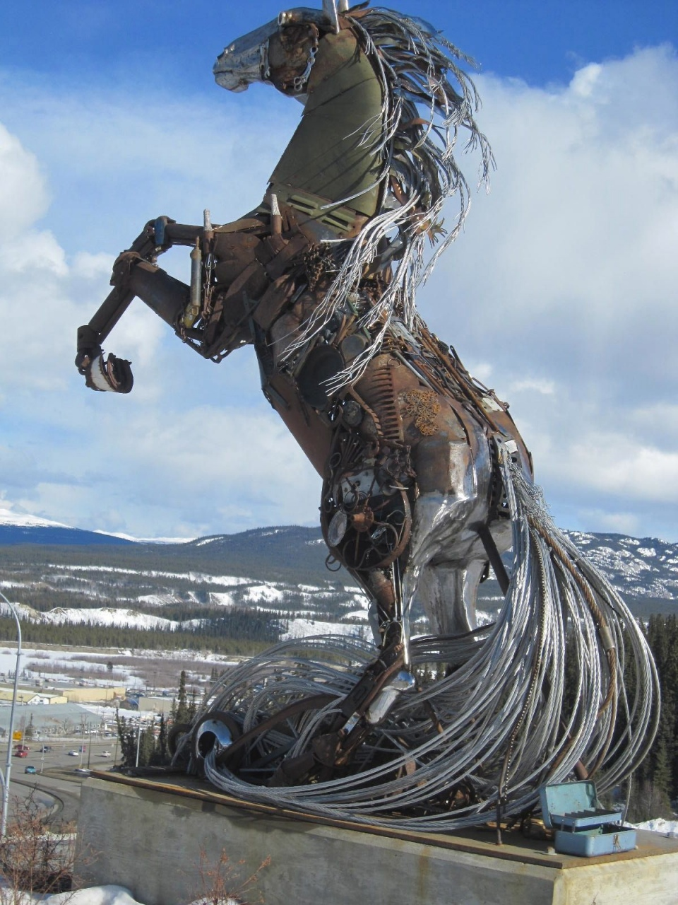 Scrap Metal Horse Sculpture Lorenzo Sculptures