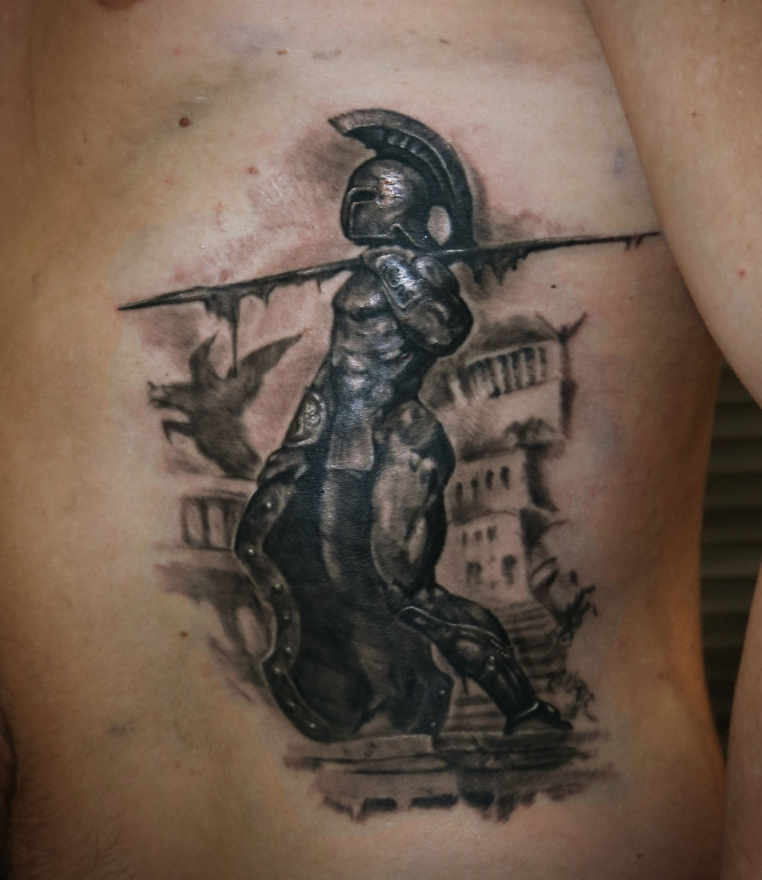 Image result for spartan tattoo 3d